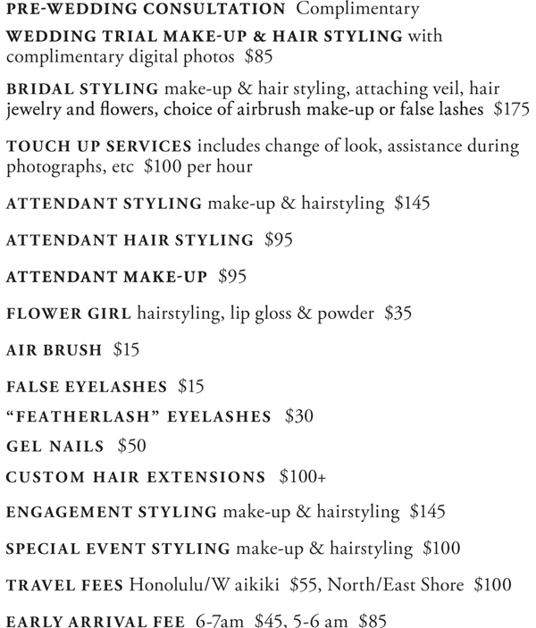 Makeup Artist Rates For Weddings - Style Guru Fashion Glitz Glamour Style Unplugged